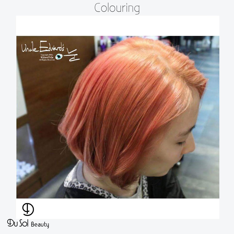 Coral Hair Colour by Edward Kim, Korean Director Stylist at Du Sol Beauty Salon