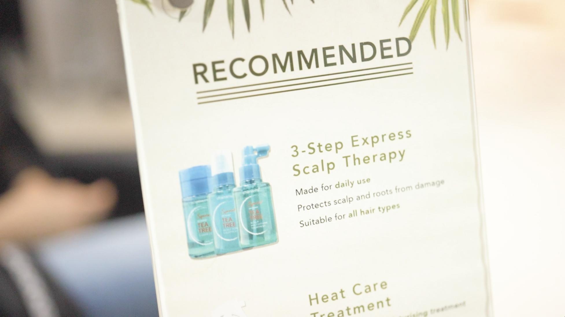 Floral print design for Salon treatment recommendations at DuSol Beauty Novena Singapore