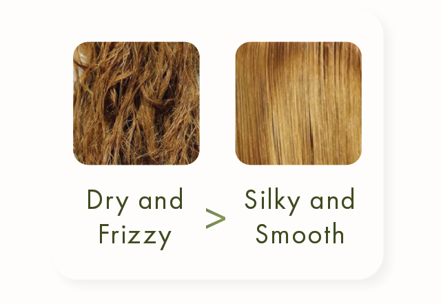 Tangled and damaged hair becomes silky and smooth with Chanamu S&C Tea Tree Leave-in Treatment.