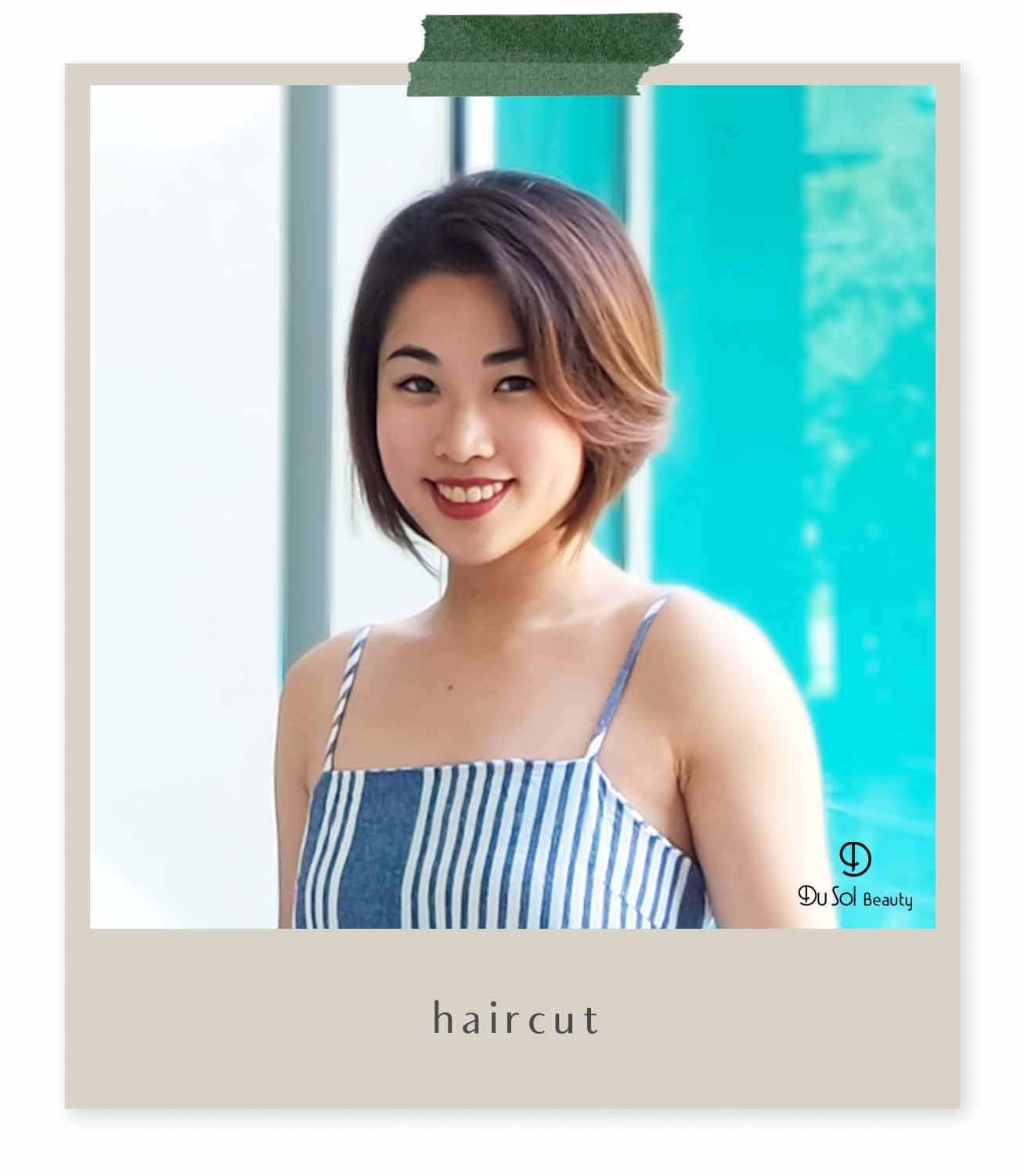 Warm Brown Color + HairCut + Organic Keratin Treatment