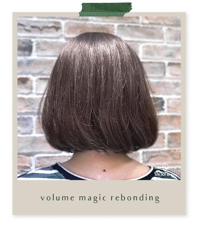 Volume Magic Rebonding Short Hair by Vivian from DuSolBeautySG Novena