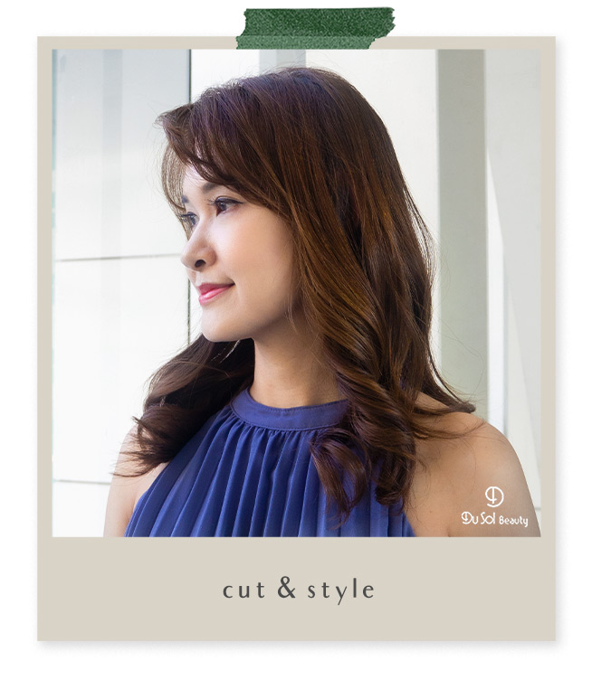 Cut and Style by Vivian from DuSolBeautySG Novena Hair Salon Singapore