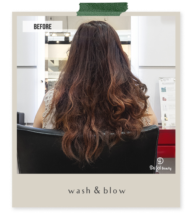 Wash and Blow by Vivian from DuSolBeautySG Novena Hair Salon Singapore