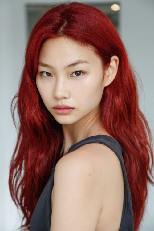 burugundy red, by ho-yeon, jung, top fashion model from south korea