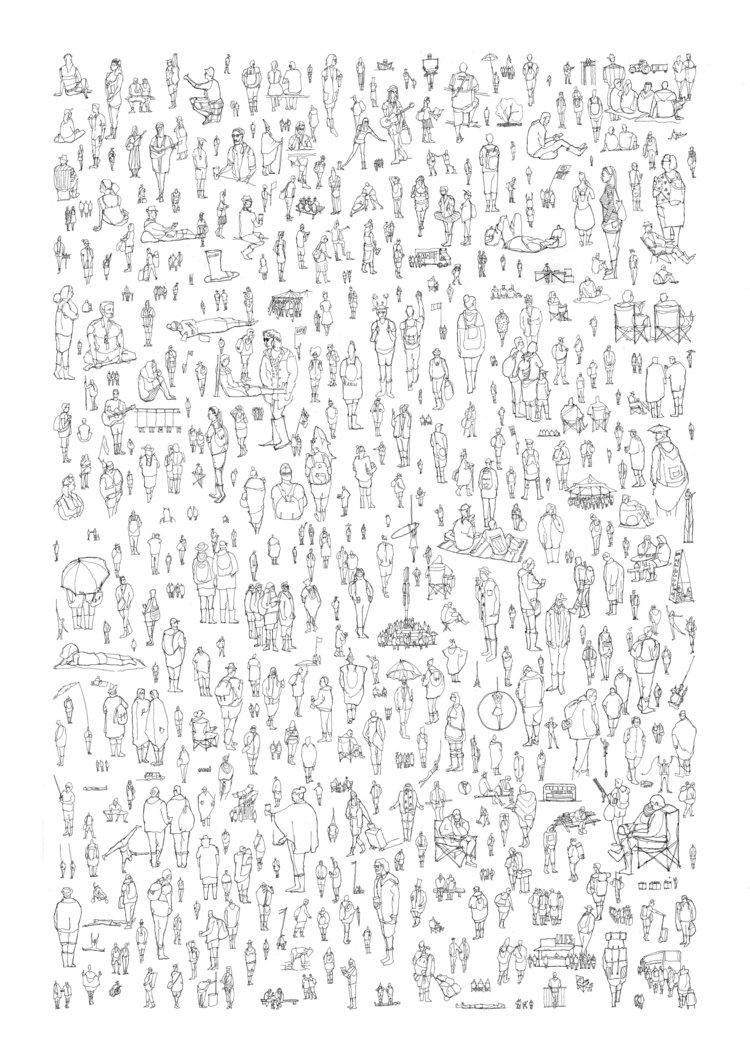 'Glastonbury' (People Watching Series) © Luke Adam Hawker