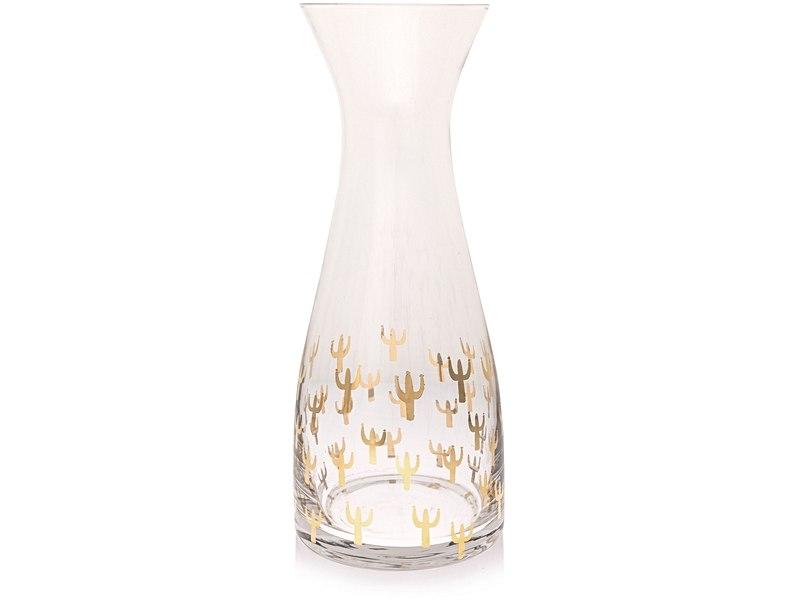 Gold Cacti Carafe, £12.50 - Oliver Bonas
