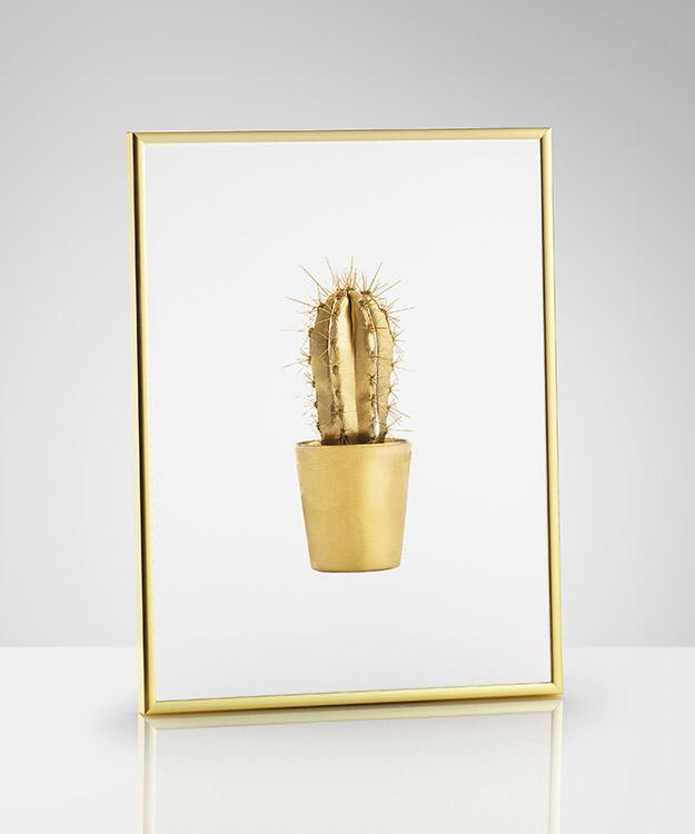 Gold Cactus print, £5.49 - Desenio