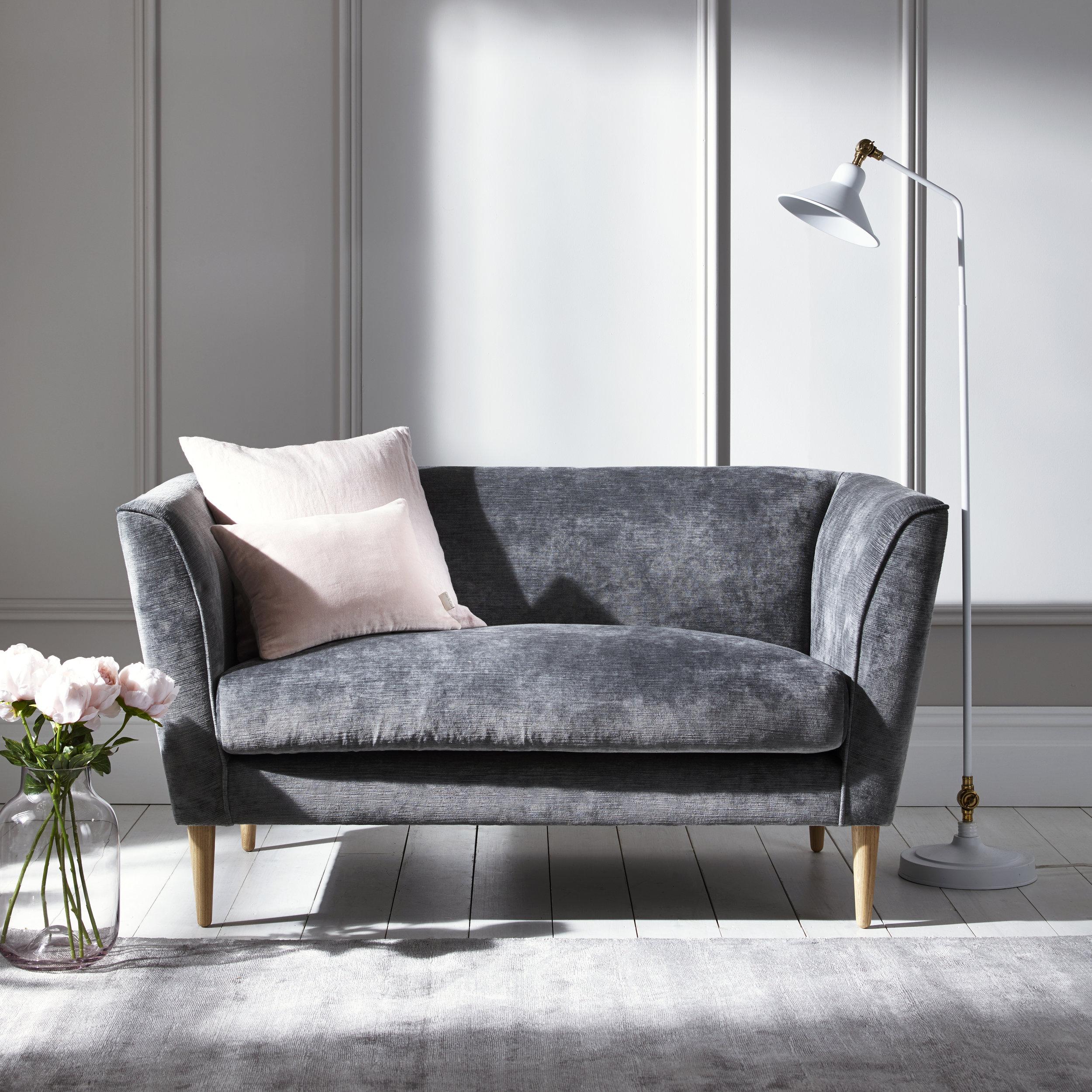 Timsbury velvet sofa - £1400.00