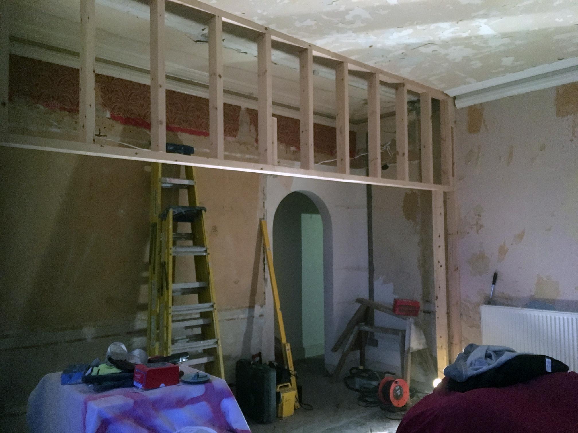 Framework going up...