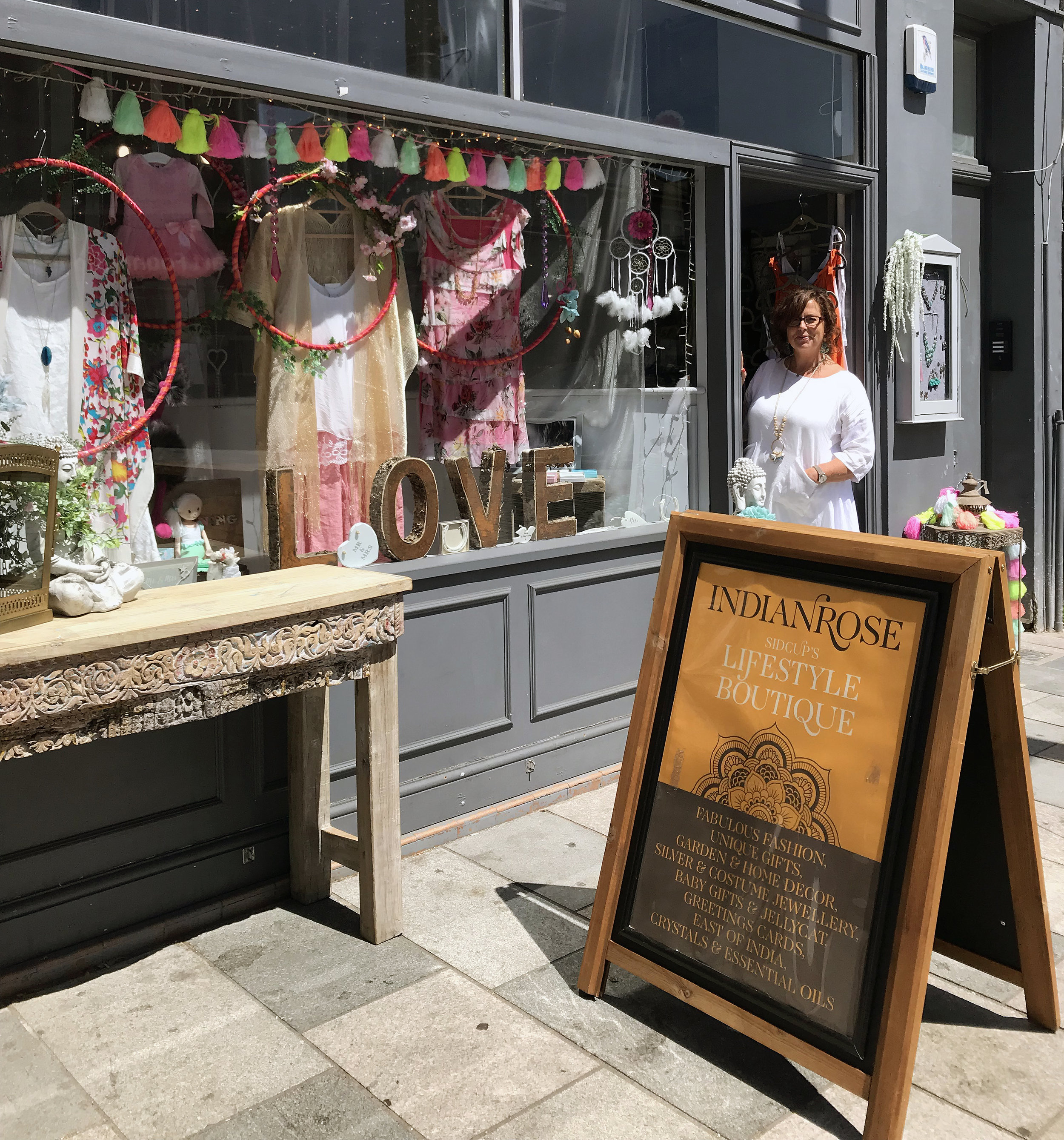 Co-owner Jane outside the store on Sidcup High Street.