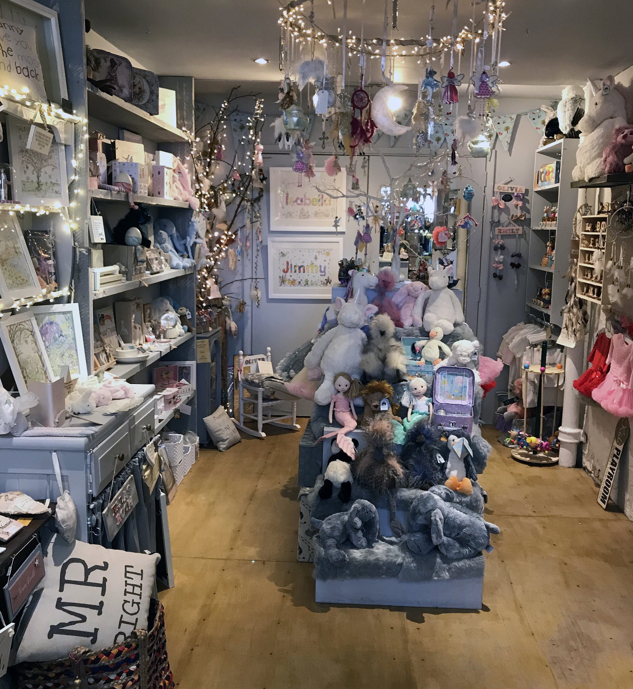 A fairy grotto of childrens' gifts!