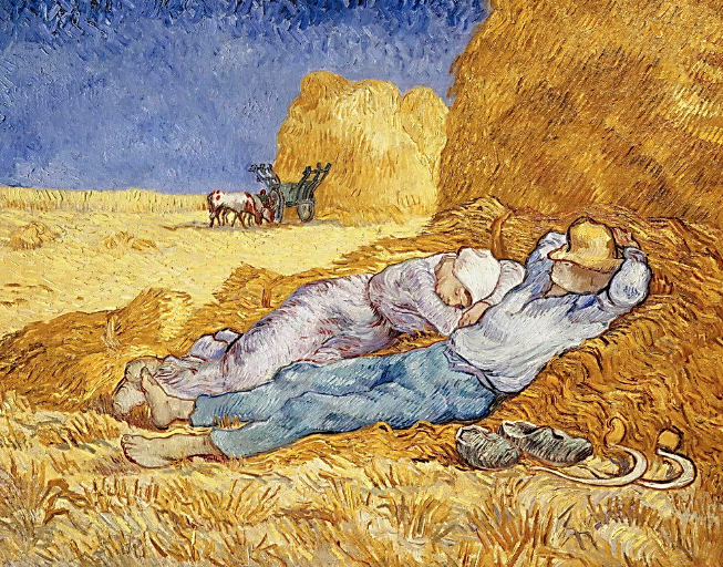 Midday Rest (after Millet) by Vincent Van Gogh