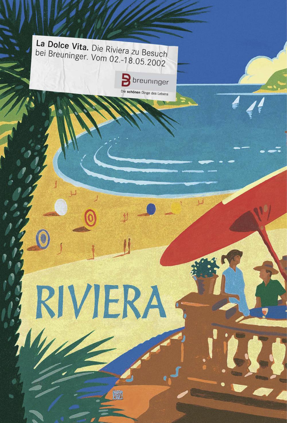 Breuninger Plakat 2: La Dolce Vita - Die Riviera zu Besuch bei Breuninger. Vom 02.-18.05.2002
