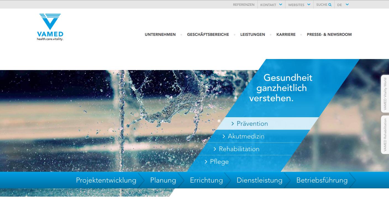 Website vamed.com - 1