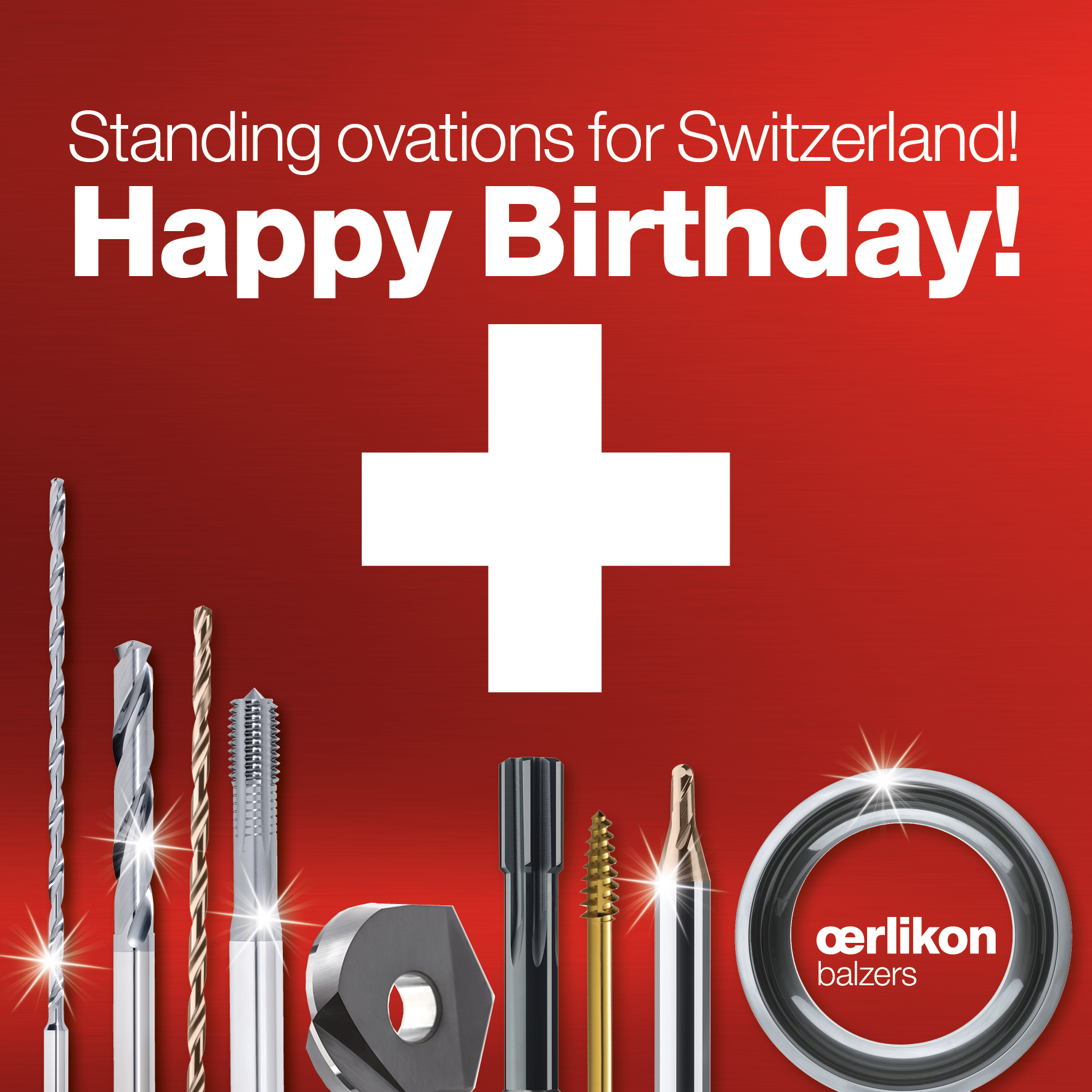 Oerlikon Balzers - Facebook Ad 3 - Nationalfeiertag Schweiz