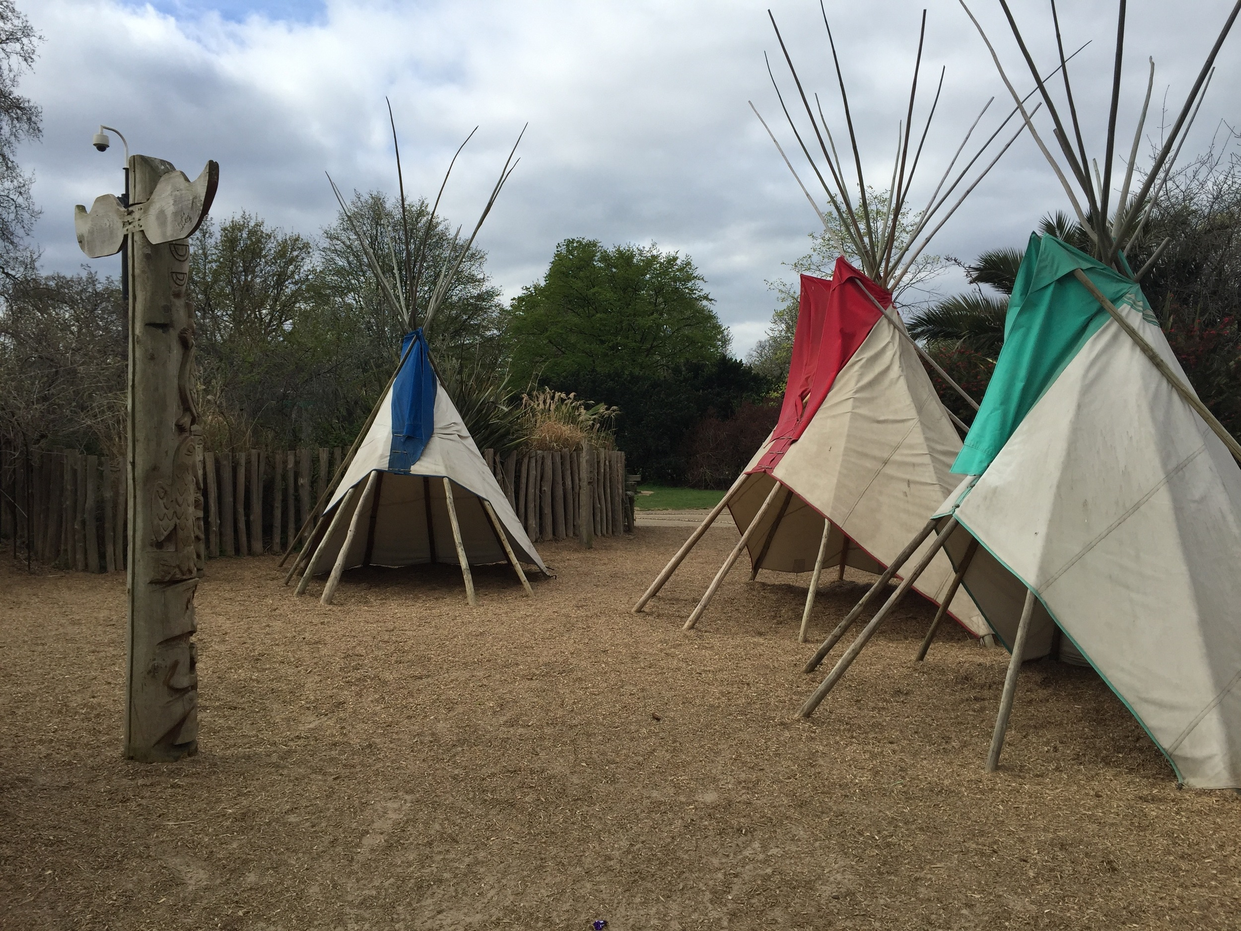 Teepee forts at Princess Diana Memorial Playground