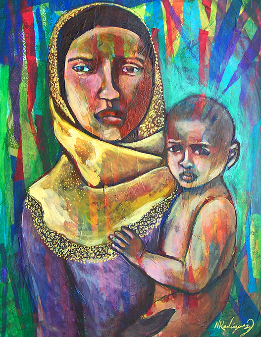 """""""Rohingya Mother and Child"""" by Nancy Rodriguez"""