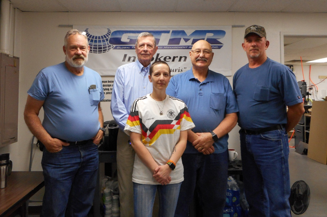 Pictured left to right (back row) – Doug Jones (Owner/Founder), Jim Hayes, John Talbot, Bob Best, (front) Vanessa Schmeiser. The rest of the team (not pictured) John Piri (Owner/Founder), Brent Nave, Bob Simmons, Dennis McKinney