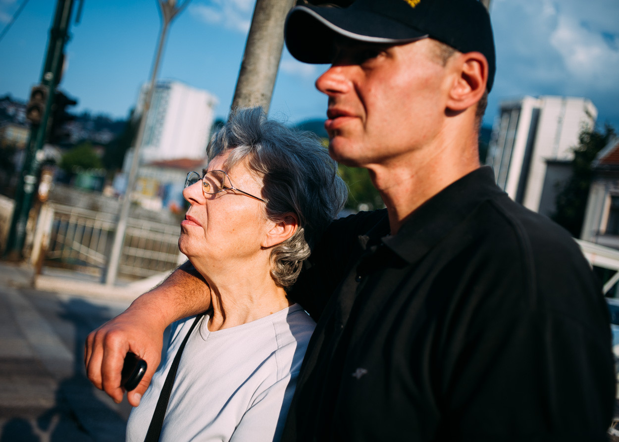 Andrej with his mother, of whom he is fiercely protective.