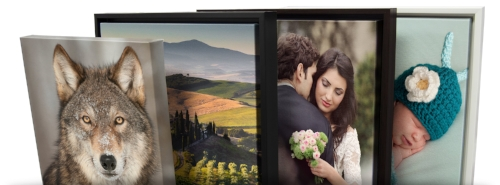 Samples of gallery Wrap and framed gallery wrap