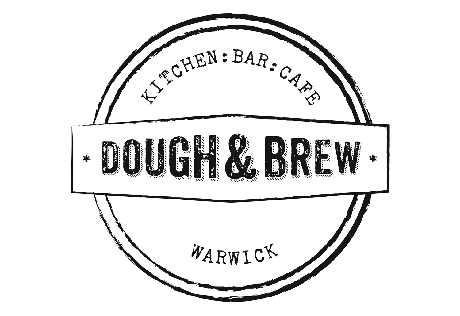 Dough & Brew's final brand identity, by The Usual Studio