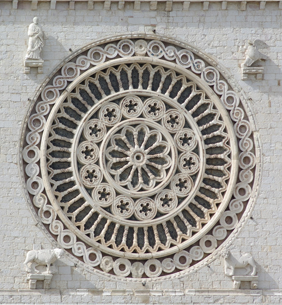 Basilica Rose Window in Assisi