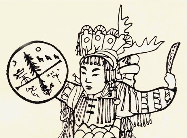 Antlered female shaman (believed to be Nishan from NE Asia)