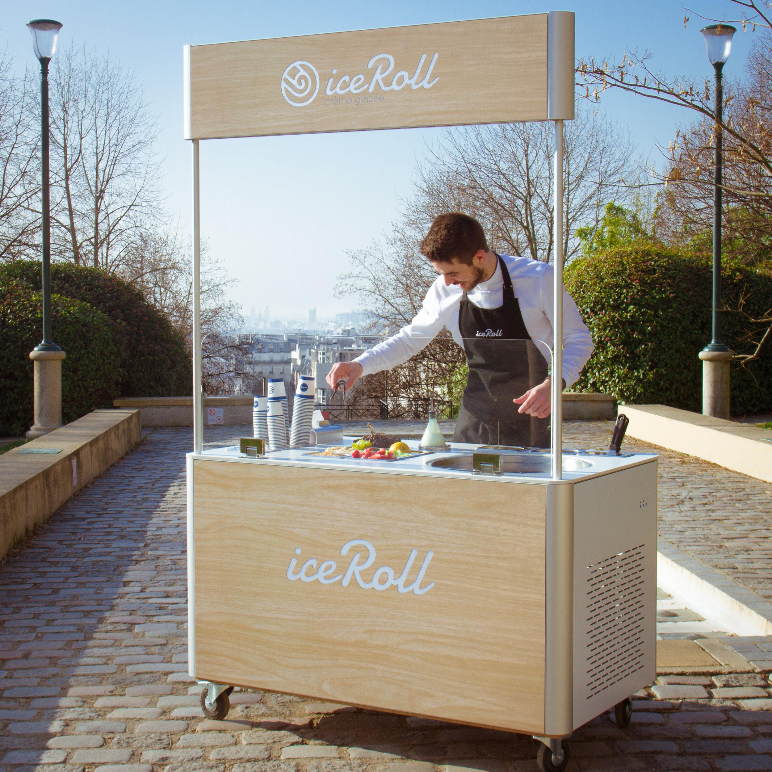 machine ice roll stand ice cream rolls machine