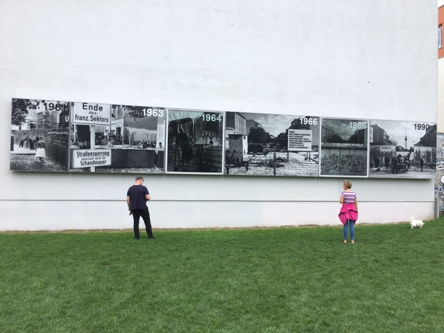 Caroline absorbs some history of life at the Wall.