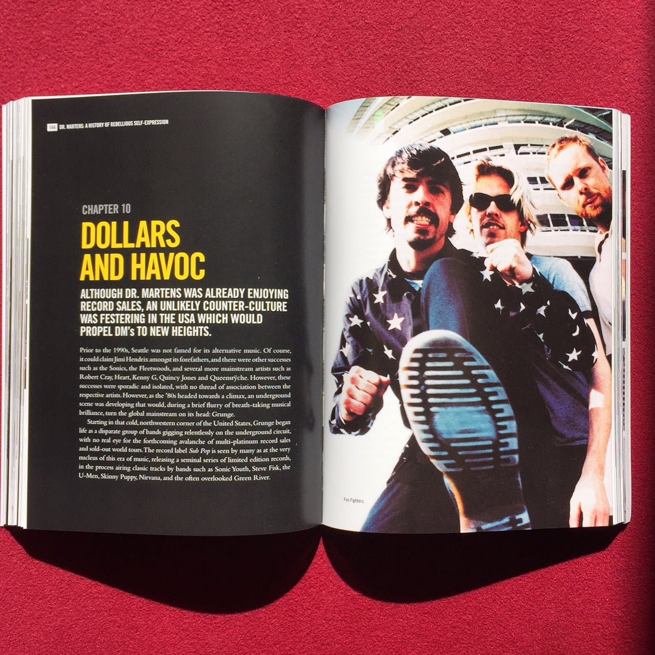 My pic of the Foofighters in the new Dr Martens book     History of rebellious self expression http://blog.drmartens.com/history-of-rebellious-self-expression-book-available-now/