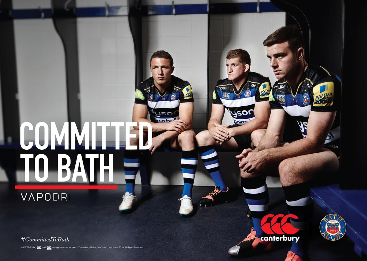 New work for Canterbury and Bath Rugby.