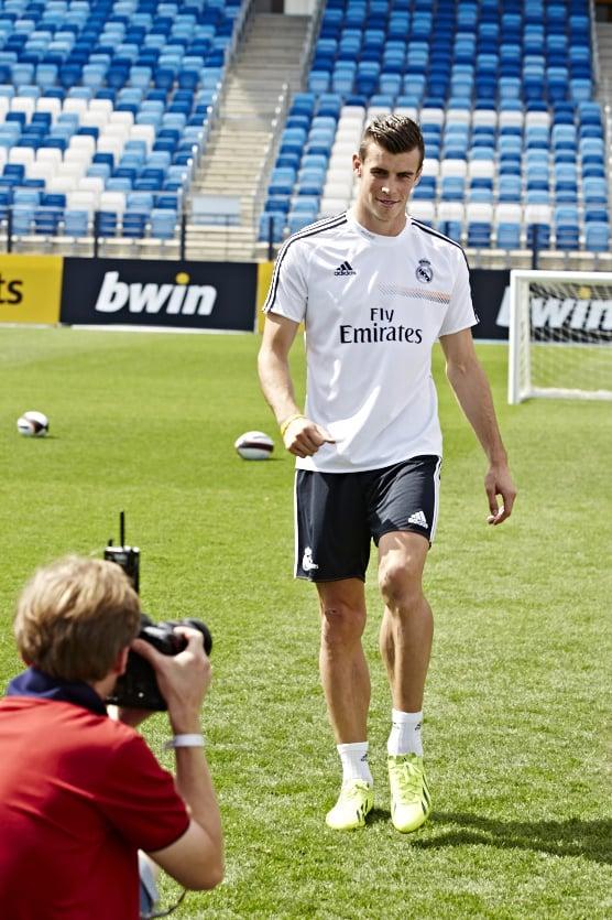 Me and Gareth Bale at work