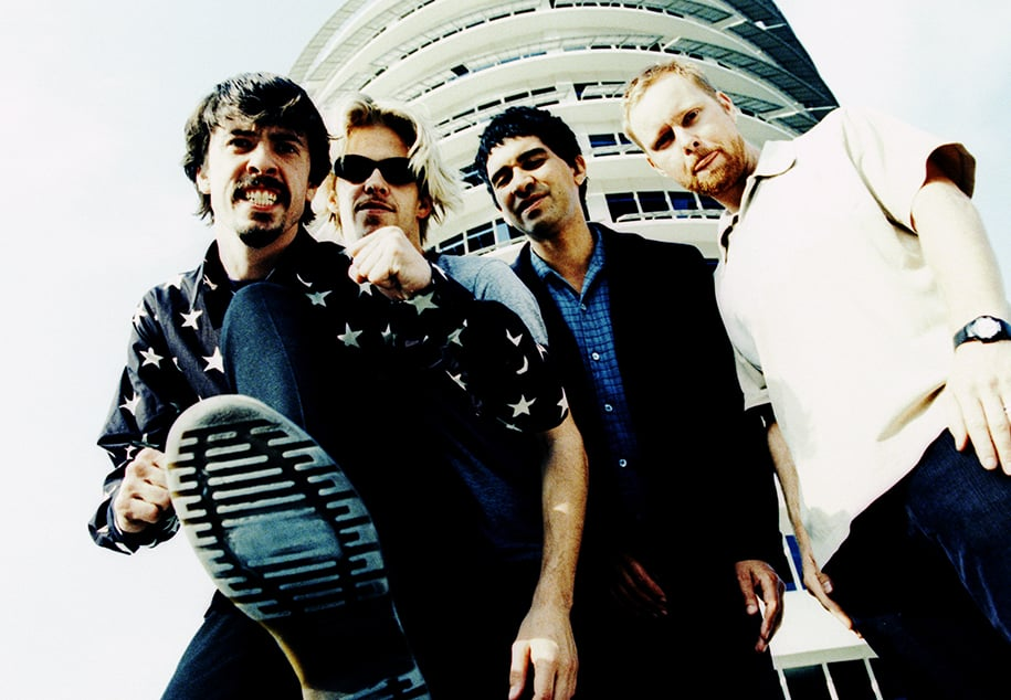Blast from the past. One of my first shoots with The Foo Fighters.