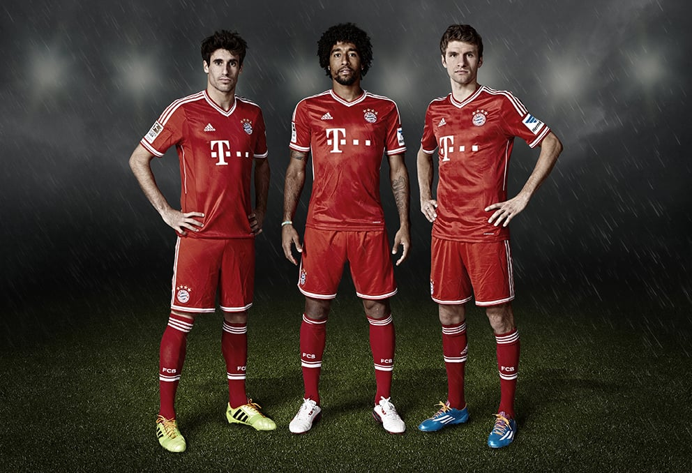 The Bayern Munich team