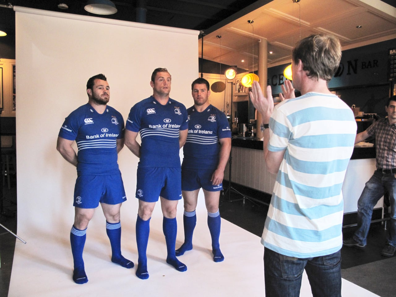 Me directing the Leinster players