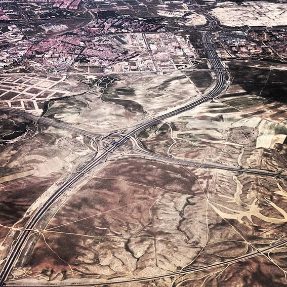 Flying high over Madrid