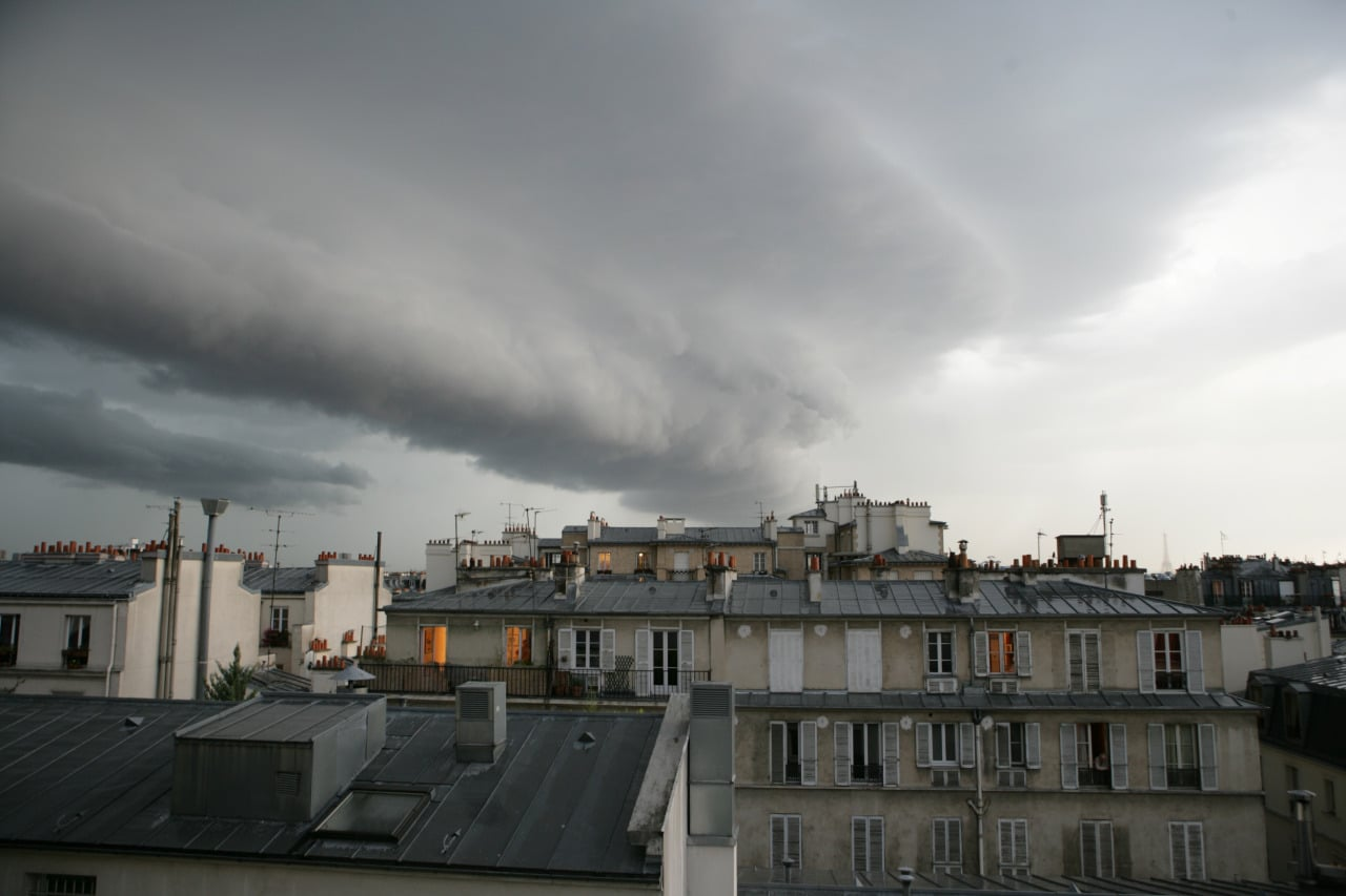 Stormy sky over Paris