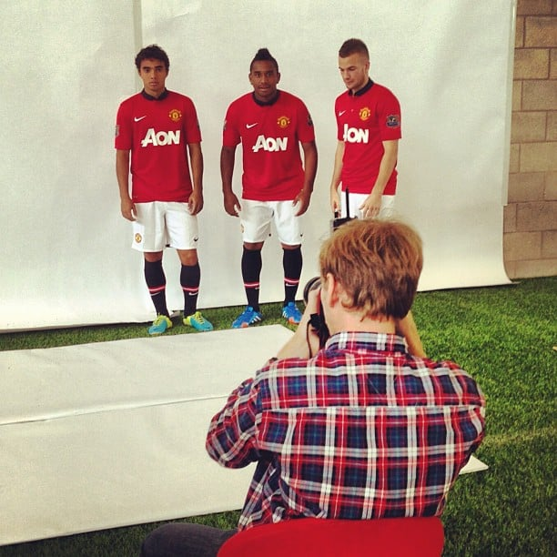 Me and the Utd players on today's shoot #manutd #mufc #fabio ##anderson #cleverley