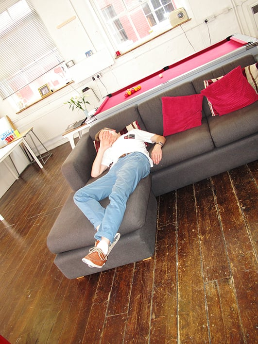 Me collapsed after todays Ben Sherman shoot.