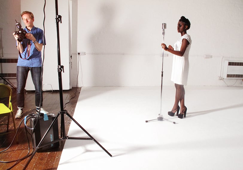 Me and Gamu on set