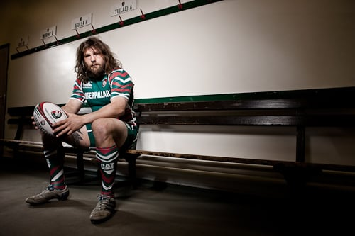 Martin Castrogiovanni, from a shoot with Leicester Tigers.