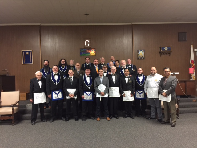 Welcome to the craft Bro. Josh! Special thanks to our brothers at Maya lodge 793 and nearby Evergreen 259 for visiting and filling upthe sidelines.