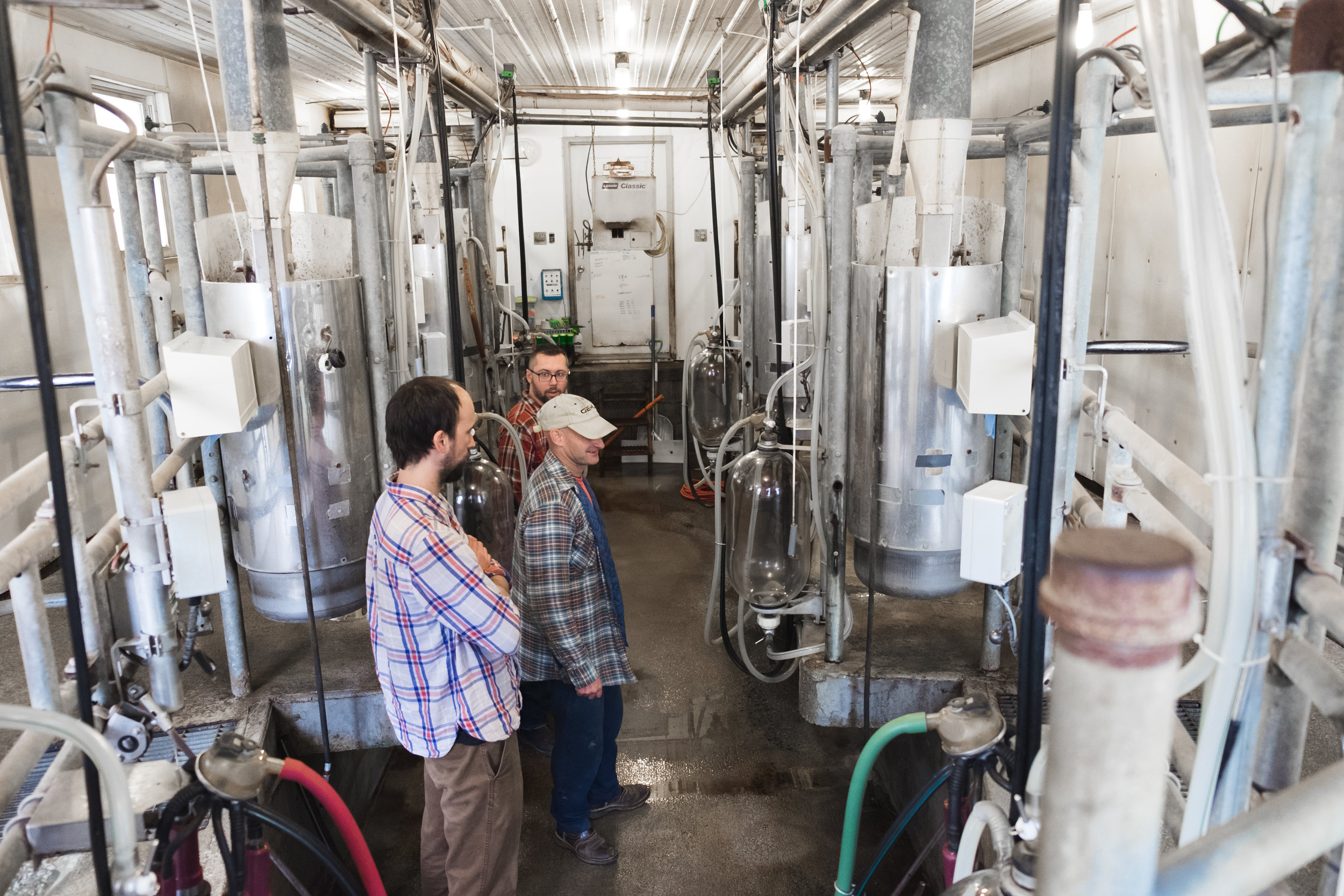 The milking room