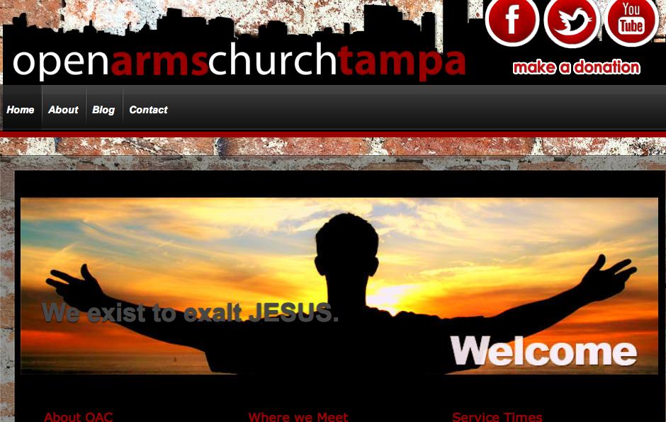 OpenArmsChurch . Church in Ybor City. Website.