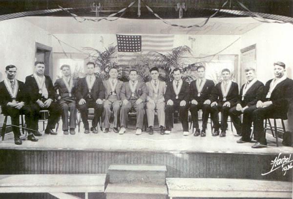 Early meeting of the Italian Lodge Board, circa unknown
