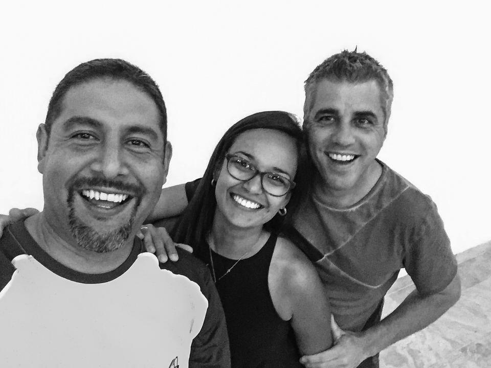 Marcos Sanchez, Andrea Giraldo y Pedro Cabrera