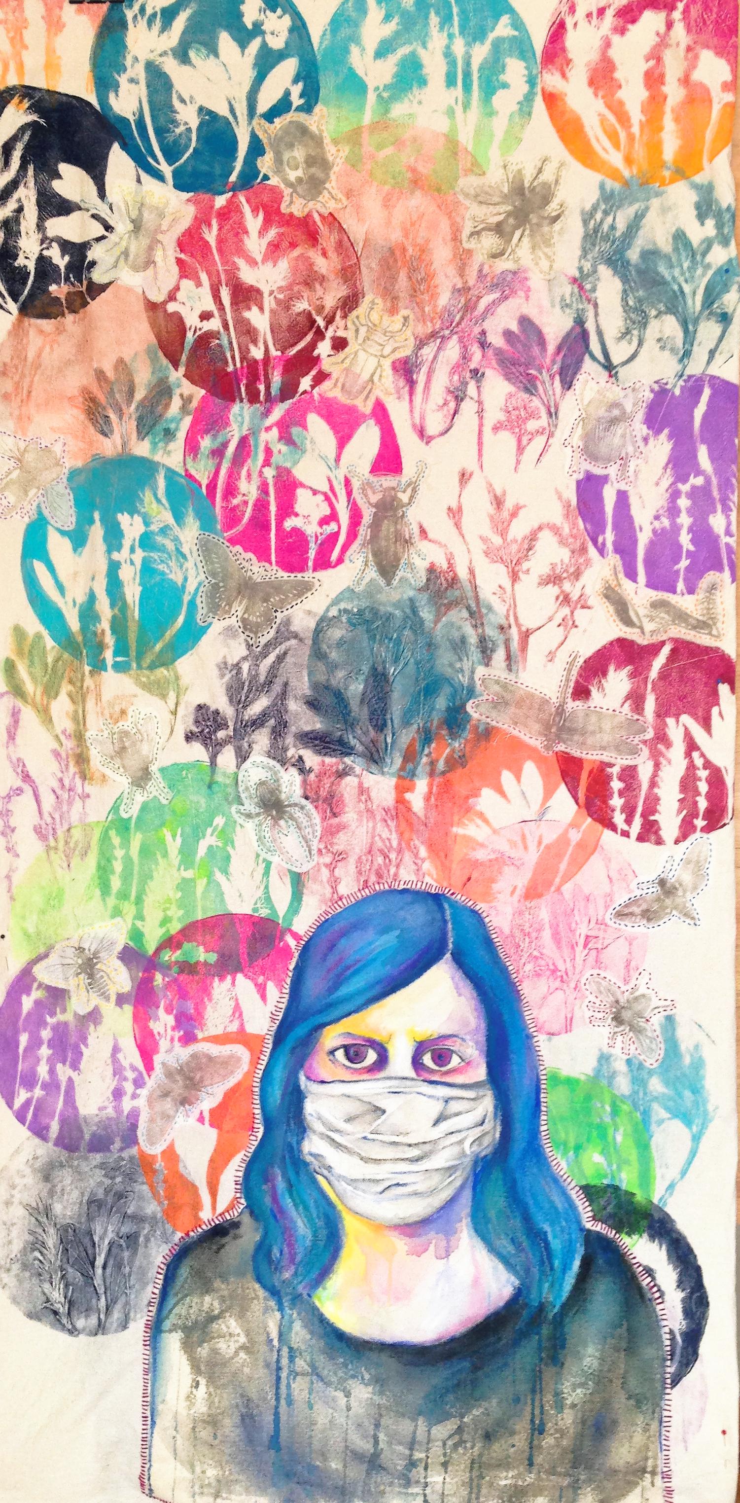 Self-portrait Emerging From Illness
