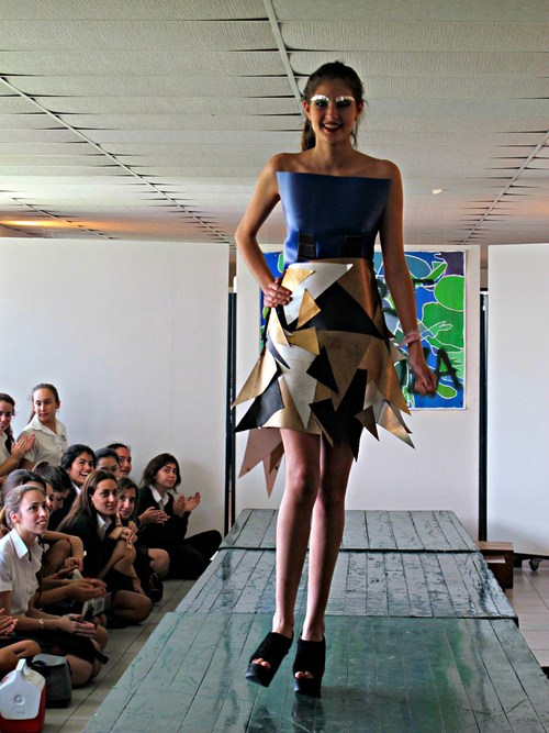 Cubist garment inspired by Georges Braque