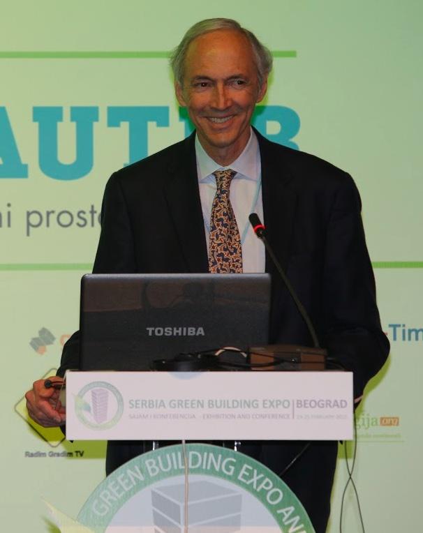 Jerry Yudelson, keynote speaker in Belgrade.