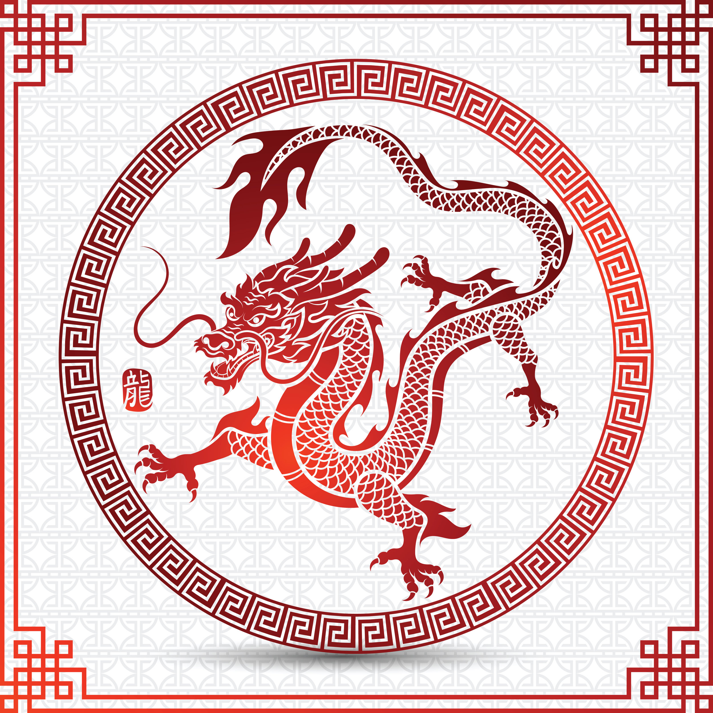 Traditional Chinese dragon reminds us of the fiery face and long tail of inaction on climate change.